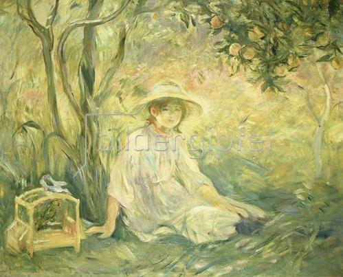 Berthe Morisot: Junges Mädchen unter Orangenbäumen. 1889