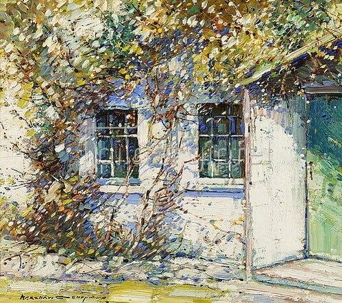 Kershaw Schofield: Cottage im Sommer.