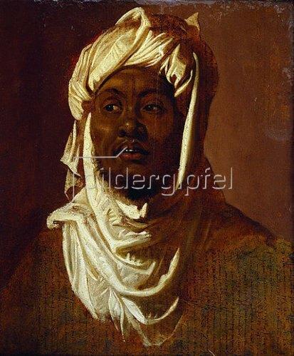 Peter Paul Rubens: Ein Afrikaner mit einem weißen Turban - Skizze.