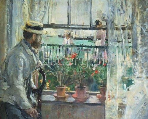 Berthe Morisot: Eugene Manet auf der Insel Wight. 1875.