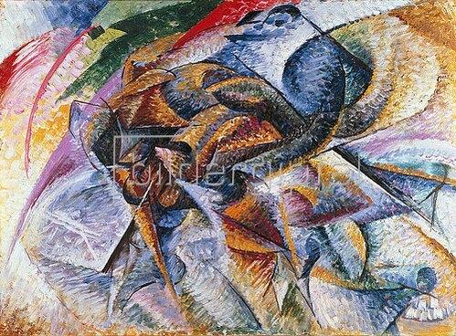 Umberto Boccioni: Dynamik eines Radfahrers. 1913.