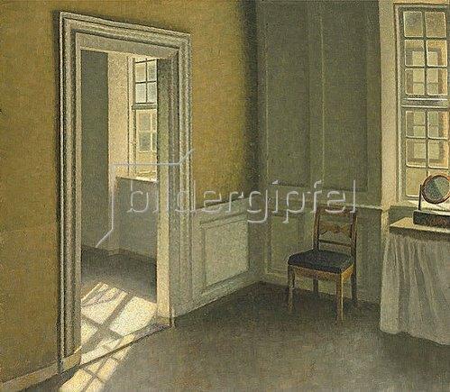 Vilhelm Hammershoi: Bedroom, Strandgade 30. 1906