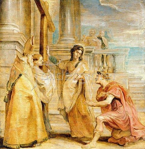 Peter Paul Rubens: Konstantin der Große verehrt das Wahre Kreuz.