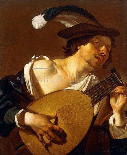 Dirck van Baburen: Ein Lautenspieler. 1621-22