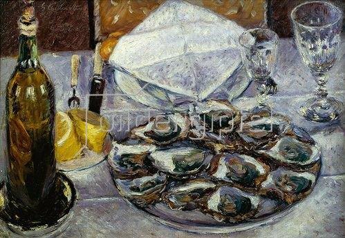 Gustave Caillebotte: Stillleben mit Austern (Nature morte aux huîtres). 1881