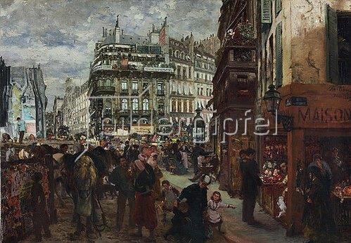 Adolph von Menzel: Pariser Wochentag. 1869