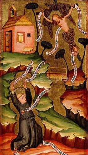 Böhmisch: Der hl. Franziskus empfängt die Stigmata. Um 1400