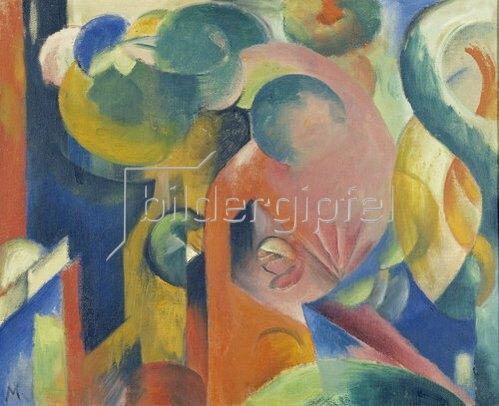 Franz Marc: Kleine Komposition III. 1913/1914.