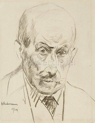 Max Liebermann: Selbstbildnis. 1924.