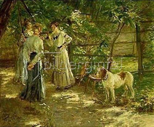 Fritz von Uhde: Die Töchter im Garten. 1906.