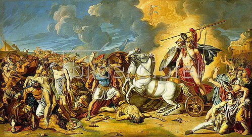 Antonio Rafaelle Calliano: Szene aus dem Trojanischen Krieg