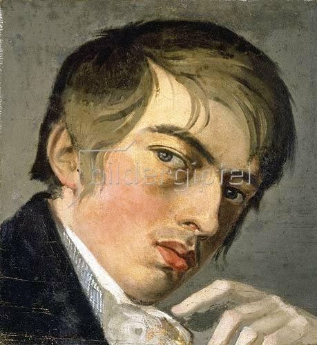 Johann Friedrich Overbeck: Selbstbildnis (Studie) 1807.