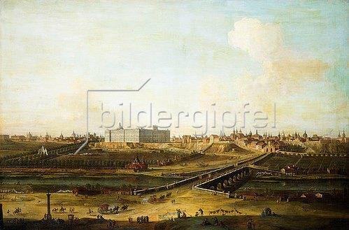 Antonio Joli: Madrid mit dem Palacio Real vom Westufer des Manzanares. 1752-53