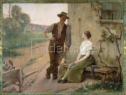 Adrien Henri Tanoux: Bauernpaar. 1889