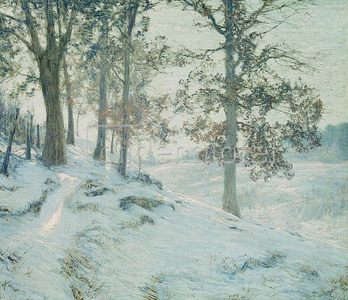 Walter Launt Palmer: Lingering Oak Leaves (Letzte Eichenblätter).