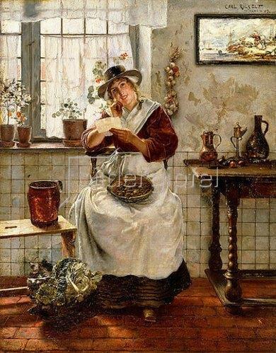 Carl Rickelt: Der Liebesbrief. 1889