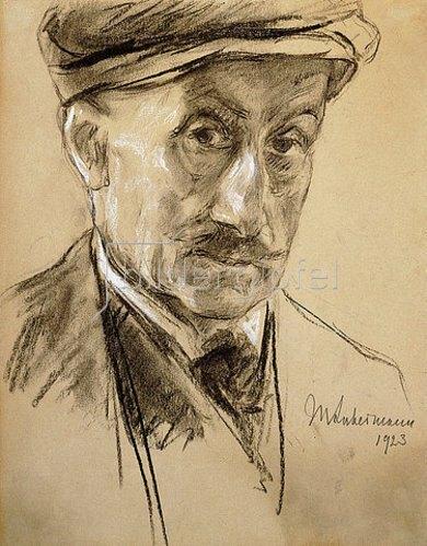 Max Liebermann: Selbstbildnis. 1923