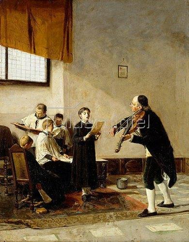 Mose Bianchi: Am Vortag des Fests. Die Chorstunde (La Vigilia della sagra. Una Lezione di canto corale).