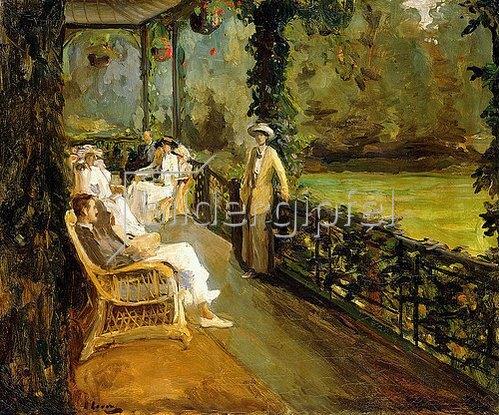 Sir John Lavery: Auf der Veranda. 1912