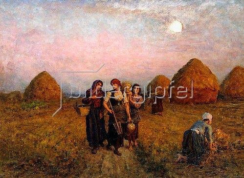 Jules Breton: Abenddämmerung (Ardeurs du crépuscule). 1900