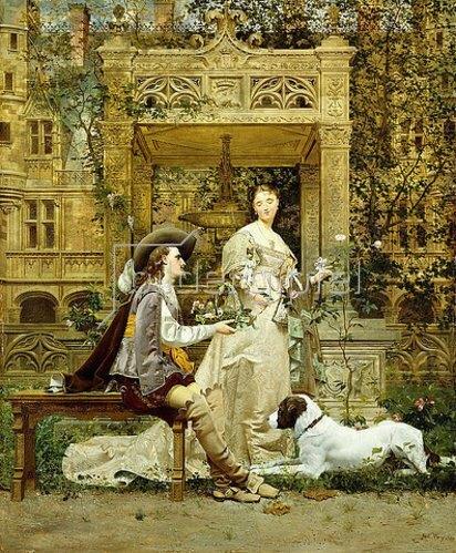 Paul Alphonse Viry: Der Heiratsantrag. 1876