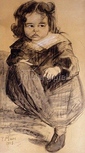 Franz Marc: Kleines Mädchen mit weißem Kragen. 1905