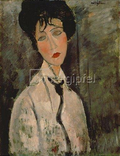 Amadeo Modigliani: Frau mit schwarzer Kravatte. 1917.