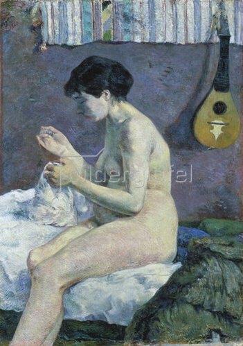 Paul Gauguin: Die nähende Suzanne. 1880