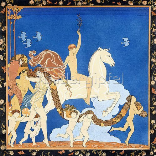 Georges Barbier: Der Schimmel (Le Cheval Blanc). Um 1917-20