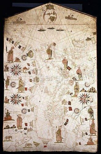 Italienisch: Portolankarte des Mittelmeerraums und Nordeuropas. Levanto oder Genua, um 1575-1600
