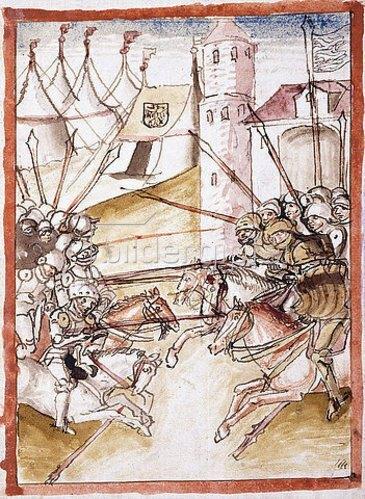 Conrad Vaihinger: Die Römer überfallen Augsburg. Augsburg, um 1490