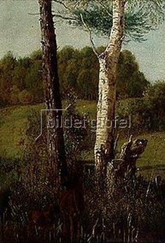 Wilhelm von Kobell: Landschaft mit Rehen. 1822.