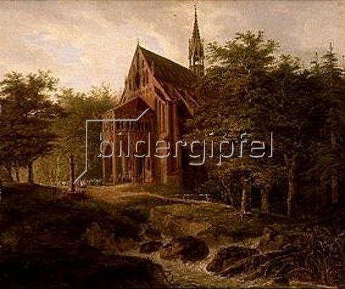 Domenico Quaglio: Waldkapelle. 1817.