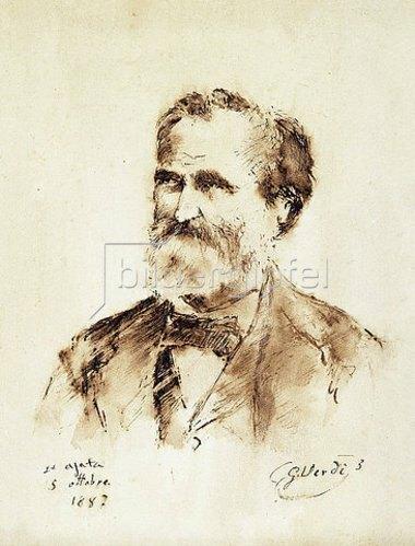 Unbekannter Künstler: Porträt von Giuseppe Verdi (1813-1901). 1887