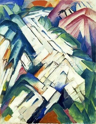 Franz Marc: Steiniger Weg (Gebirge/Landschaft). 1911/1912.