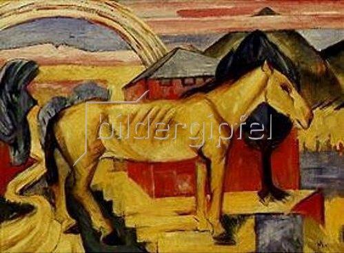 Franz Marc: Das lange gelbe Pferd. 1913.