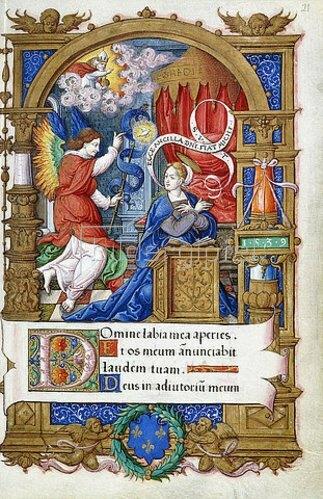 Französisch: Verkündigung, aus einem Stundenbuch für Franz I., Paris oder Tours, 1532-40