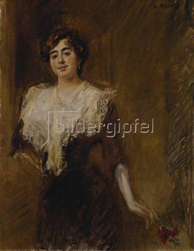Max Slevogt: Bildnis Angela von Tschudi. 1901.