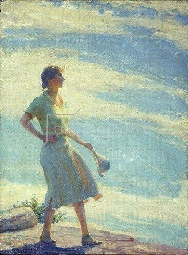 Charles Courtney Curran: Wandern auf der Klippe. 1935.