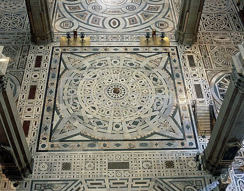 Arnolfo di Cambio: Marmorboden der Kathedrale Santa Maria del Fiore in Florenz. 13.-15. Jh.