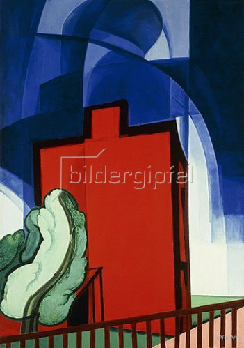 Oscar Florianus Bluemner: Blue Above. 1935.