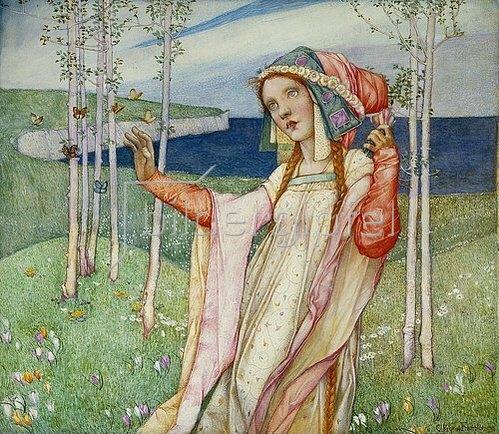 Edward Reginald Frampton: Der Frühling (Spring). 1911.