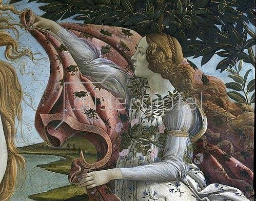 Sandro Botticelli: Geburt der Venus. Detail: Flora. Um 1484.