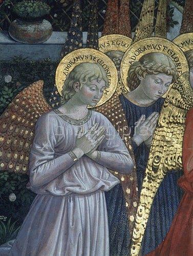 Benozzo Gozzoli: Dreikönigszug. Detail: Engel. 1459/69.
