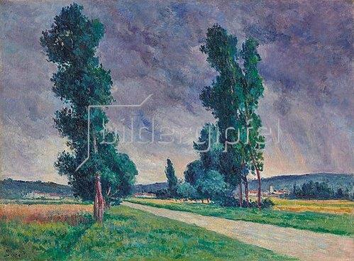 Maximilien Luce: Bessy-sur-Cure, die Straße. 1907