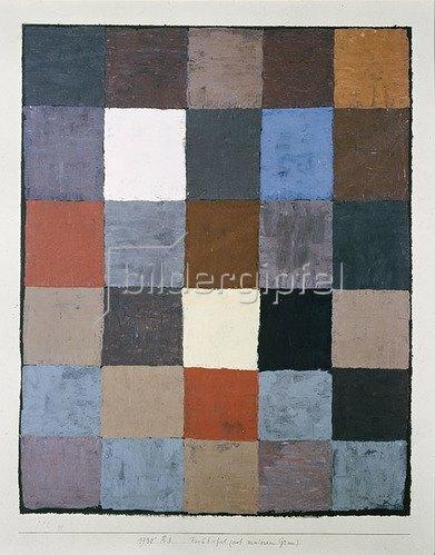Paul Klee: Farbtafel (auf maiorem Grau). 1930, 83