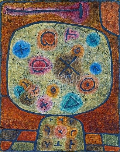 Paul Klee: Blumen in Stein. 1939