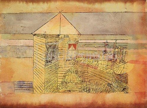 Paul Klee: Wunderbare Landung, oder '112!'. 1920, 179