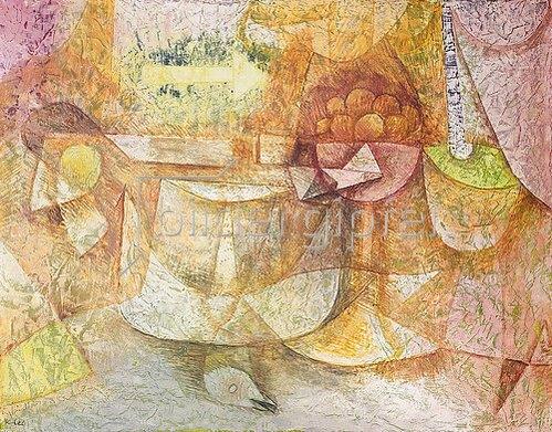 Paul Klee: Stillleben mit Taube. 1931 oder 1934