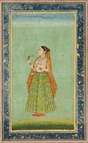 Indien: Porträt einer Dame. Um 1780